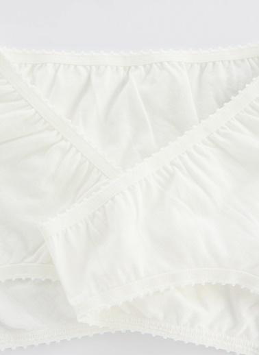 Penti Beyaz Kız Çocuk Organıc Cotton 3Lü Slip Külot Beyaz